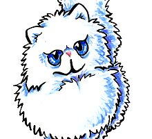 White Persian Caricature by offleashart