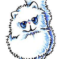 White Persian Caricature by offleashart