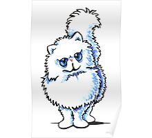 White Persian Caricature Poster