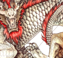 Red Crested Dragon Sticker