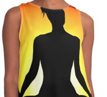 Female Yoga Meditating  Contrast Tank