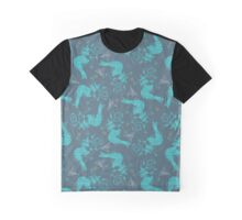 Mermaid pattern Graphic T-Shirt