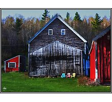 Barns and Chairs 3 Each Photographic Print