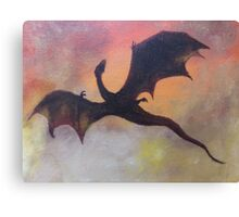 The fall of Smaug Canvas Print