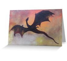The fall of Smaug Greeting Card