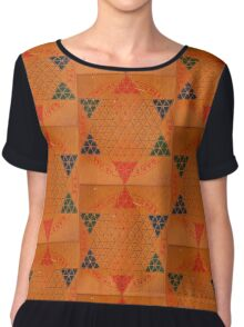 Chinese Checkers Anyone? Chiffon Top