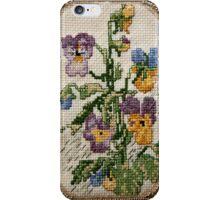 Viola- flower Cross-stitch  iPhone Case/Skin