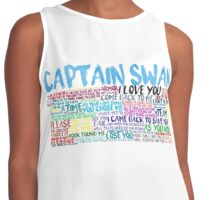 Captain Swan Quote Spam  Contrast Tank