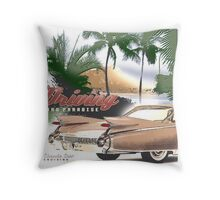 cadillac beach Throw Pillow