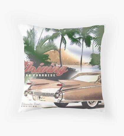 cadillac beach Throw Pillow