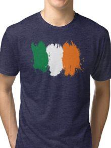 Ireland - Paint Splatter Tri-blend T-Shirt