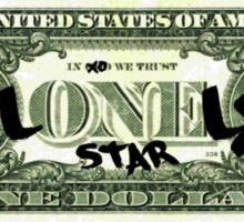 Lonely Star Dollar Bill Sticker