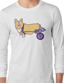 Corgi on wheels  Long Sleeve T-Shirt