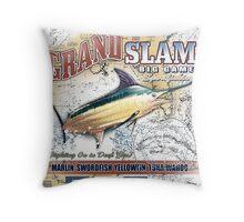 marlin fishing Throw Pillow