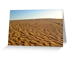 Deserted Arabian Desert Greeting Card