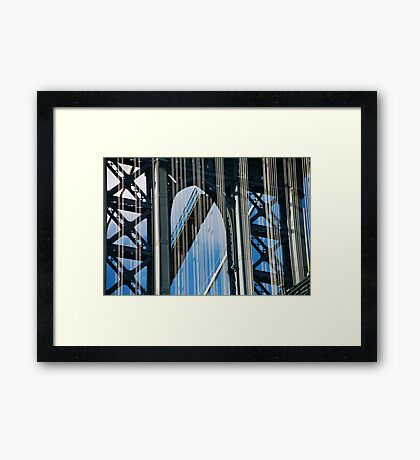 Manhattan Bridge Abstract Framed Print