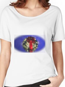 Festive Wreath Women's Relaxed Fit T-Shirt