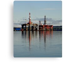 Oil rigs on the Cromarty Firth Canvas Print