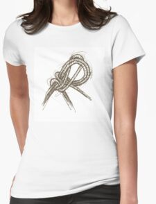 Sailing Ship Knot, tony fernandes Womens Fitted T-Shirt