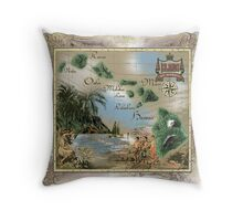 hawaiian islands Throw Pillow