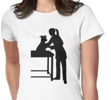 Female veterinarian dog Womens Fitted T-Shirt