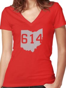 614 Pride Women's Fitted V-Neck T-Shirt