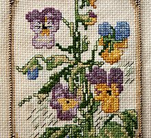 Viola- flower Cross-stitch  by Kim-maree Clark