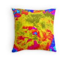 Psychedelic Throw Pillow Throw Pillow
