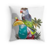 parrot in a hat 3 Throw Pillow