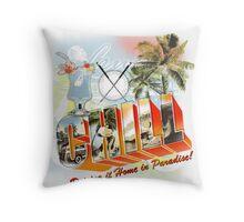 paradise golf Throw Pillow