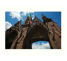 Green-Wood Cemetery Arch Art Print