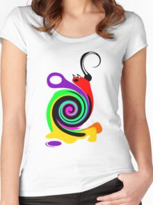 Moony the Snail Women's Fitted Scoop T-Shirt