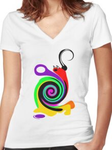 Moony the Snail Women's Fitted V-Neck T-Shirt