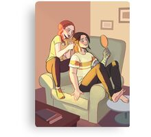 THERAPEUTIC HAIR BRAIDING SESSION Canvas Print