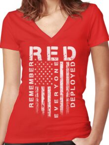 Red Friday - Remember Everyone Deployed Women's Fitted V-Neck T-Shirt
