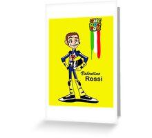 Valentino rossi caricature Greeting Card