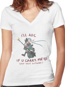 adc e support <3 v.6 Women's Fitted V-Neck T-Shirt