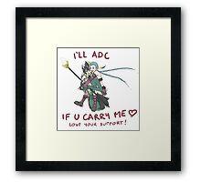 adc e support <3 v.6 Framed Print