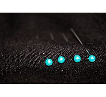 Blue pins Photographic Print