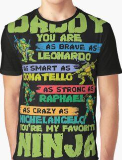 Daddy Favorite Ninja Funny T-Shirt Graphic T-Shirt