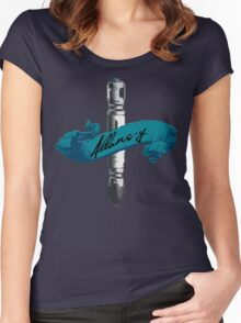 Sonic Screwdriver Allons-y Women's Fitted Scoop T-Shirt