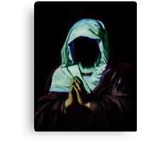 Praying. Canvas Print