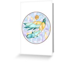 Bird and Button  Greeting Card
