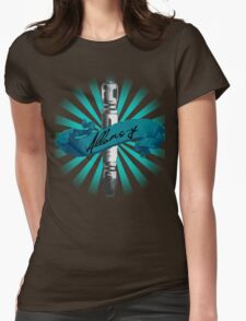 Sonic Screwdriver Allons-y Sun Burst -Doctor Who Womens Fitted T-Shirt