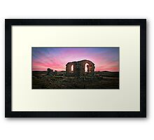 Ruined Sunset Framed Print