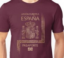 Spanish Passport Vintage Unisex T-Shirt