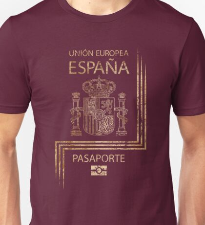 Spanish Passport Vintage Unisex T-Shirt
