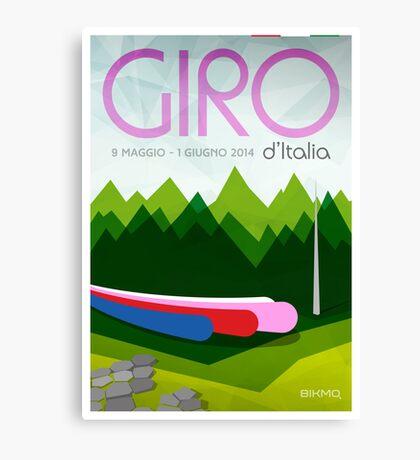 Giro D'Italia 2014 Poster by Bikmo Canvas Print