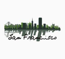 San Francisco California Skyline At Sundown One Piece - Long Sleeve