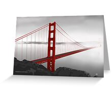 Golden Gate Bridge (Vectorillustration) Greeting Card